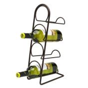 Pisa Wine Rack 4 Bottle - Antique Bronze