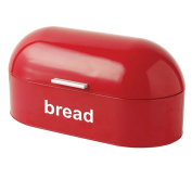American Style Curved Steel Roll Top Bread Bin Kitchen Food Storage In 3 colours