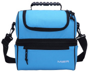 MIER Insulated Lunch Box Large Insulated Cool Tote Bag Lunch Kit for Men, Women, Double Deck Cooler