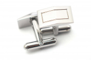316L Stainless Steel Fashion Rectangle Shape Business Cufflinks Sets for Men 17*9mm