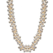 925 Sterling Silver Necklace with Cultured Freshwater Pearls