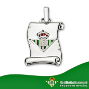 Real Betis parchment shield pendant silver small law [8606GR] - RECORDING INCLUDED IN PRICE