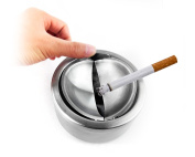 Frost Stainless Steel Flip Top Opening Ashtray