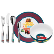 WMF Cars Child's Cutlery set, Stainless Steel, Multi-Colour, 6-Piece