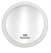 Fantasia Acrylic Mirror with Suction Cup and 10x Magnification 10 cm Pack of 1