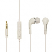 for Samsung EHS64 3.5 mm Jack Plug Stereo Sound In-Ear Headphones for Galaxy S4 - White