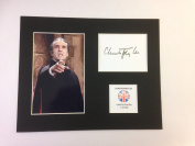 LIMITED EDITION CHRISTOPHER LEE SIGNED DISPLAY PRINTED AUTOGRAPH AUTOGRAPH AUTOGRAF AUTOGRAM SIGNIERT SIGNATURE MOUNT FRAME