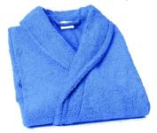 Lasa Pure - Bathrobe with smoking shawl, size XXL, Sea Blue colour