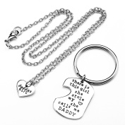 JSDDE Father Mother Daughter Grandpa Grandma Granddaughter Sister Brother Keychain Necklace Jewellery
