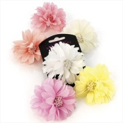 H20332 Yellow Pastel Flower Clip Hair Accessory Wedding Party