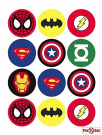 40 x Pre Cut Super Hero Cake, Cupcake Toppers/Decorations Edible Wafer Paper