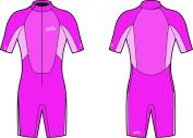 Yello Girls' Sandbar Infant Shorty Upf 50 Plus Wetsuit