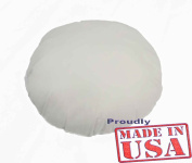 46cm ROUND Pillow Sham Stuffer White Hypoallergenic Pillow Insert (First Quality) Made in USA