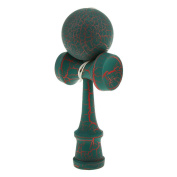 Wooden Crack Paint Kendama Toy Kids Ball Games Green & Red