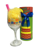 Bath Salt Sundae in Birthday Wine Glass with Decorative Wine Glass Packaging *Lots of Designs To Choose From*
