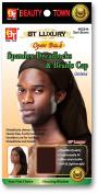 Beauty Town Open Back Luxury Spandex Dreadlocks & Braids Cap Dark Brown #2244