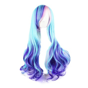 ShowStar 70cm Lolita Gradient Hairstyle Long Curly Synthetic Hair Cosplay Party Wig