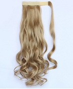 SWACC 50cm Women Curly Wrap Around Ponytail Extension Synthetic Clip in Hair extension