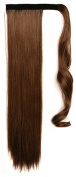SWACC 60cm Women Straight Wrap Around Ponytail Extension Synthetic Clip in Hair extensions