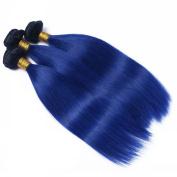Top 7A Quality Blue Ombre Human Hair Extension Brazilian Virgin Hair Weave Bundle Weft Blue Ombre Virgin Human Hair Straight