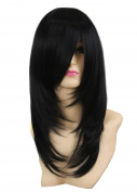 Icoser® Sexy Women Synthetic Hair Wigs Black Vogue Wig Costume Cosplay and a Wig Cap Black and a Hair Comb