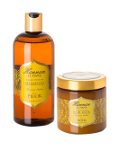 Hammam Tunisian Amber Restore & Repair Haircare Set - Tunisian Amber Restorative Hair Mask + Nourishing Shampoo