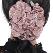 Handmade large claw clip chiffon flower hair partywedding hair claw clamp