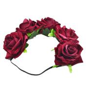 Bridal flannel high quality Wreath Rose Garland Bride Bridesmaid Flower