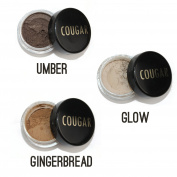 Cougar Beauty Mineral Eyebrow Trio & Brush Kit