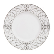 Wedgwood Imperial Scroll Accent Salad Plate, 23cm , White