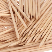 Orange Wood Sticks, Nail Art, Cuticle Pusher Remover, Manicure Pedicure Tool
