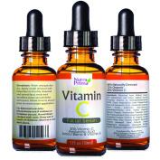 Enhanced Vitamin C Serum 20% Vitamin C & Vitamin E & Hyaluronic Acid 30ml Best Anti-Ageing & Anti-Wrinkle Protection Help Repair Sun Damage & Facial Blemishes Organic Ingredients. By Nutra Prima