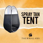 Spray Tan Tent (BLK) The Best, Bigger Than Others, Folds Easily In 30 Seconds and Has NO Logo On Tent Itself!