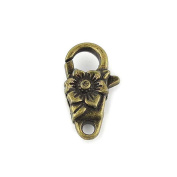 Price per 5 Pieces Fashion Jewellery Making Charms Findings Arts Crafts Beading Antique Bronze Tone 46543 Flower Lobster Key Clasp Ring