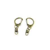 Price per 260 Pieces Fashion Jewellery Making Charms Findings Arts Crafts Beading Antique Bronze Tone 07744 Lobster Key Clasp Ring