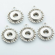 Simple Ever 18mm/12mm Snap Button Accessory for interchangeable snaps for Noosa Chunk necklaces, rings,Jewerly & bracelet Pack of 5