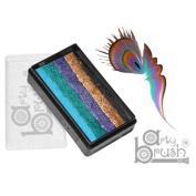 Silly Farm Rainbow Cakes - Peacock Arty Brush Cake
