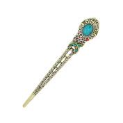 Eastlion Antique Bronze Diamond Butterfly Hairpins Hair Stick Multicoloured