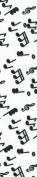 Venus Ribbon V81433 3.8cm Music Mania Printed Polyester Grosgrain Ribbon 5 yards White/Black