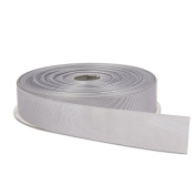 2.5cm Silver Double Face Solid Grosgrain Ribbon 50 Yards-Roll Multiple Colours Available by Topenca Supplies