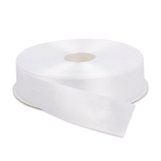 2.5cm Solid Satin Ribbon 50 Yards-Roll Multiple Colours Available by Topenca Supplies