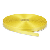 1cm Yellow Double Face Solid Satin Ribbon 50 Yards-Roll Multiple Colours Available by Topenca Supplies