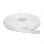 1cm White Double Face Solid Satin Ribbon 50 Yards-Roll Multiple Colours Available by Topenca Supplies