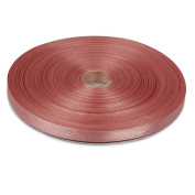 1cm Coral Double Face Solid Satin Ribbon 50 Yards-Roll Multiple Colours Available by Topenca Supplies