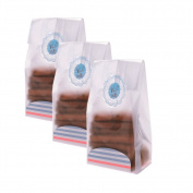 Derker 50 Pack,Transparency Flat Cello Cellophane Treat Bags with Seal and Card Tray DIY