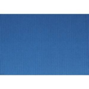SOLID BLUE CORRUGATED PAPER AWNING