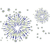 Fireworks Stencil - (size 32cm w x 22cm h) Reusable Wall Stencils for Kids Rooms - Best Quality Nursery Baby Boys Girls Room Stencil Ideas - Use on Walls, Floors, Fabrics, Glass, Wood and More...