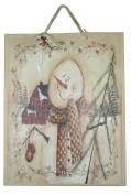 Matte Finish Deluxe Gift Bag - Woodland Snowman (Jumbo