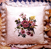 Candamar Candlewicking Embroidery Kit Floral Bouquet Pillow 36cm x 36cm #80245