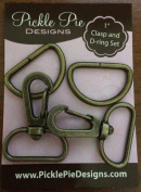 Pickle Pie Designs 2.5cm Brass Clasp and D-Ring Set ...